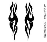 tribal designs. tribal tattoos. ... | Shutterstock .eps vector #596324459