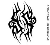 tribal designs. tribal tattoos. ... | Shutterstock .eps vector #596329079