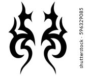 tattoo tribal vector designs... | Shutterstock .eps vector #596329085