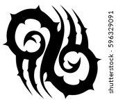 tribal tattoo art designs.... | Shutterstock .eps vector #596329091