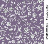 vector seamless floral pattern  ... | Shutterstock .eps vector #596329259