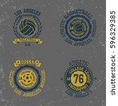 california college fashion... | Shutterstock .eps vector #596329385