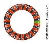roulette casino wheel template... | Shutterstock .eps vector #596333174