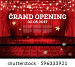 grand opening. open red... | Shutterstock .eps vector #596333921