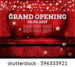 grand opening. open red... | Shutterstock .eps vector #596333921
