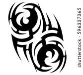 tribal designs. tribal tattoos. ... | Shutterstock .eps vector #596337365