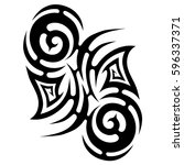 tribal designs. tribal tattoos. ... | Shutterstock .eps vector #596337371
