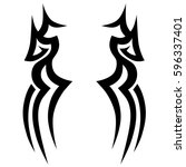 tribal designs. tribal tattoos. ... | Shutterstock .eps vector #596337401