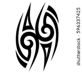 Tribal designs. Tribal tattoos. Art tribal tattoo. Vector sketch of a tattoo.   Shutterstock vector #596337425