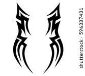 tattoo tribal vector designs... | Shutterstock .eps vector #596337431
