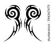 tattoo tribal vector designs... | Shutterstock .eps vector #596347475