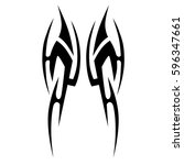 tribal designs. tribal tattoos. ... | Shutterstock .eps vector #596347661