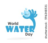 world water day illustration... | Shutterstock .eps vector #596348531