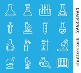 lab icons set. set of 16 lab... | Shutterstock .eps vector #596350961