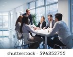 group of business people... | Shutterstock . vector #596352755