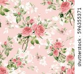seamless watercolor pattern... | Shutterstock . vector #596355371