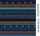 ethnic boho  aztec seamless... | Shutterstock . vector #596357594