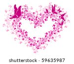 Vector Lacy Heart With Floral...