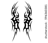 tattoo tribal vector designs... | Shutterstock .eps vector #596360381