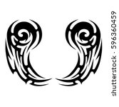 tattoo tribal vector designs... | Shutterstock .eps vector #596360459