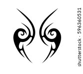 tattoo tribal vector designs... | Shutterstock .eps vector #596360531