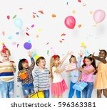 group of kids celebrate...