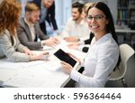 group of business people... | Shutterstock . vector #596364464