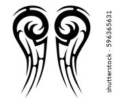 tattoo tribal vector designs... | Shutterstock .eps vector #596365631