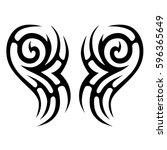 tribal designs. tribal tattoos. ... | Shutterstock .eps vector #596365649
