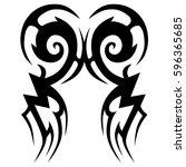 tattoo tribal vector designs... | Shutterstock .eps vector #596365685