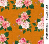 seamless floral pattern with... | Shutterstock .eps vector #596367155