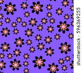 Abstract Pattern Of Flowers Of...