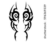 tattoo tribal vector designs... | Shutterstock .eps vector #596369339