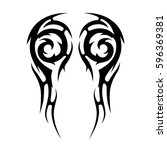 tattoo tribal vector designs... | Shutterstock .eps vector #596369381