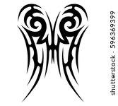 tribal designs. tribal tattoos. ... | Shutterstock .eps vector #596369399