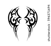 tattoo tribal vector designs...   Shutterstock .eps vector #596371694