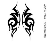 tattoo tribal vector designs.... | Shutterstock .eps vector #596371709