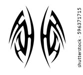tattoo tribal vector designs... | Shutterstock .eps vector #596371715