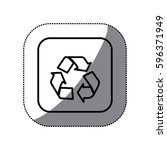 figure symbol recycle icon ... | Shutterstock .eps vector #596371949