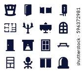 Interior Icons Set. Set Of 16...
