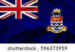cayman islands flag of silk 3d... | Shutterstock . vector #596373959