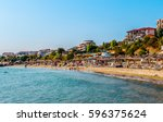 seashore of resort city saint... | Shutterstock . vector #596375624