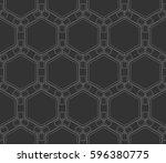 ornamental seamless pattern.... | Shutterstock . vector #596380775