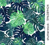 green vector pattern with... | Shutterstock .eps vector #596389424