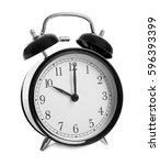 alarm clock on white background | Shutterstock . vector #596393399