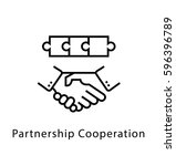 partnership cooperation vector... | Shutterstock .eps vector #596396789