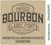 vintage label typeface named ... | Shutterstock .eps vector #596400695