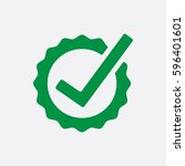 green proof icon. check concept ... | Shutterstock .eps vector #596401601