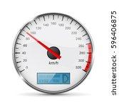 speedometer. speed gauge with... | Shutterstock .eps vector #596406875