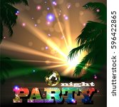 summer beach party flyer | Shutterstock .eps vector #596422865